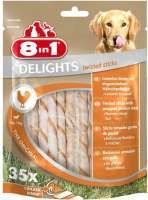 8in1 Delights Twisted Sticks Original 190 g, 55 g