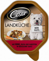 Cesar Cuisine Mini-Filets met Rundvlees, Pasta en Wortelen in Saus 150 g