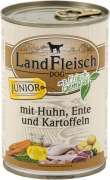 Landfleisch Dog Junior Pollo & Anatra & Patate con Verdura fresca Lattina 400 g