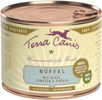 Terra Canis Classic Meals, Buffalo with Millet, Tomato and Papaya 800 g, 400 g, 200 g