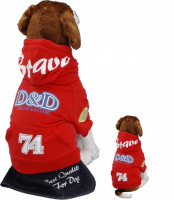 Pullover D&D Dog Fashion Brave Rood