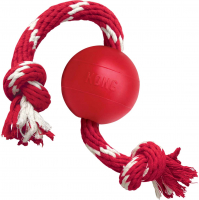 KONG Ball with Rope Small S Rojo