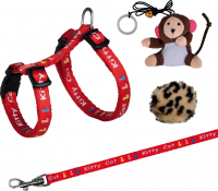 Kitten Harness with Leash and 2 Toys 21-33х0.8 cm