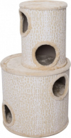 Cat Scratching Tower Nested Dome OAK Beige