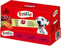 Frolic 100% Complete with Beef, Carrots & Cereals 7.5 kg, 1.7 kg