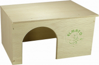Guinea Pig House Flat Roof, Natural Natural