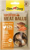 GimDog Superfood Meat Balls Chicken with Carrot and Flaxseed 70 g 4002064514802