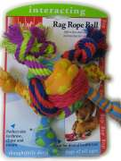 Petstages Rag Rope Ball Multicolor