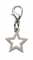 Colgante Lucky Star Czech Crystal Blanco