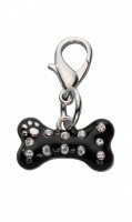 Colgante Naughty Bone Czech Crystal Negro