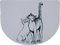 Salvamanteles - Cute Cats Gris