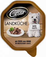 Cesar Cuisine Mini-Filets met Kalkoen en Rundvlees in Saus 150 g 4008429041105