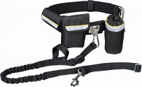 Waist Belt with Leash, black Zwart