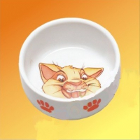 Ceramic Bowl with Cat motive Wit