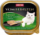 Vom Feinsten Adult with Beef, Salmon Filets & Spinach 100 g