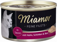 Miamor Feine Filets Tin Chicken, Ham & Rice 100 g