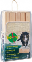 Scratching Board Deluxe Wood with Catnip L 33x18x6 cm