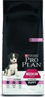 Purina Pro Plan Puppy Medium - Optiderma Zalm 3 kg, 12 kg