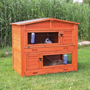 Trixie Natura Small Animal Hutch, carrot red Lysebrun
