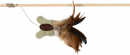 Playing rod with Butterfly and feathers 45 cm