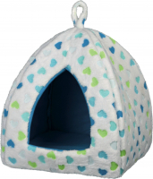 Valerio Cuddly Cave, white/blue Wit