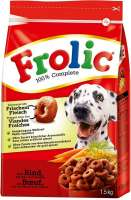 Frolic 100% Complete with Beef, Carrots & Cereals + 200 g Free 1.7 kg