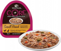 Wellness Core Small Breed Savoury Medleys con Pollo, Pato, Guisantes & Zanahoria Taza 85 g