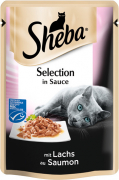 Selection in Sauce met Zalm Sheba 85 g, 12x85 g