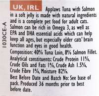 Applaws Senior Complete Cat Food Tonijn & Zalm 70 g
