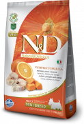 Farmina N&D Pumpkin Adult Mini con Bacalao y Naranja 800 g