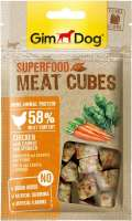GimDog Superfood Meat Cubes with Chicken, Carrot and Spinach 40 g