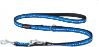"Adjustable 6 in 1 Leash Joy, ""Blue bones"" S"