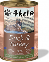 Akela Duck & Turkey 400 g, 190 g, 375 g, 200 g