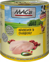 MAC's Dog - Kip & Cranberry 400 g, 800 g, 200 g