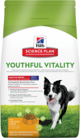 Hill's Science Plan Canine - Adult 7+ Youthful Vitality Medium Breed con Pollo & Arroz 2.5 kg 0052742015835 opiniones
