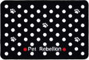 Pet Rebellion Dinner Mate Dotty Negro 40x60 cm