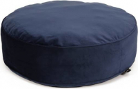 51 Degrees North Velvet Round Boxpillow Azul Ø80x20 cm