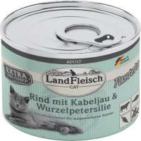 Landfleisch Cat Adult Pate with Beef, Cod and Parsley Root 195 g