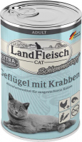 Landfleisch Cat Adult Schlemmertopf with Poultry and Crabs 400 g