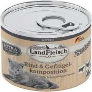 Landfleisch Cat Kitten Pate with Beef and Poultry Composition 195 g