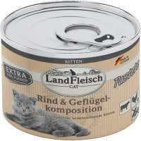 Landfleisch Cat Kitten Pate with Beef and Poultry Composition 4003537404408 opinião
