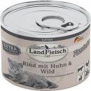 Landfleisch Cat Kitten Pate with Beef, Chicken and Venison 195 g