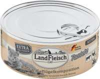Landfleisch Cat Kitten Pate with Beef and Poultry Composition 100 g