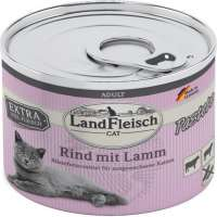 Landfleisch Cat Adult Pate with Beef and Lamb 195 g