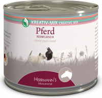 Herrmann's  Creative-Mix Horse Pure Meat, canned 200 g 4047459010019 erfaringer