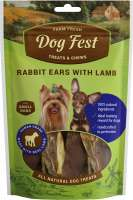Dog Fest Small Breeds Orecchie di Coniglio con Agnello + Regalo: Filetti di Anatra 55+25 g