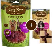 Dog Fest Small Breeds Tenders de Pato + Regalo: Filetes de Pato 55+25 g