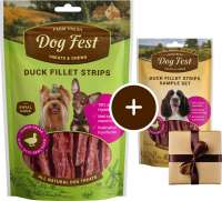 Dog Fest Small Breeds Tiras de Pato + Regalo: Filetes de Pato 55+25 g