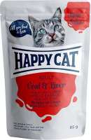 Happy Cat Meat in Sauce Adult Veal & Liver 85 g test