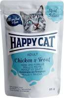 Happy Cat Meat in Sauce Adult Chicken & Trout 85 g